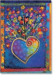 Blank Card - Heartful of Flowers | Laurel Burch™ | 5_2001156-P | Leanin' Tree