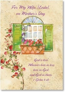 Mother's Day Card - Our home a haven of love; 1 John 4:16 | Gail Flores | 5_2001822-P | Leanin' Tree