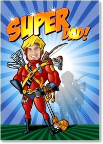 Birthday Card - My Super Hero Dad; Philippians 2:13 | Brant Nicholason | 5_2002596-P | Leanin' Tree