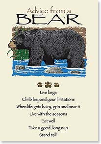 Birthday Card - Birthday Advice From a BEAR | Your True Nature® | 60270 | Leanin' Tree