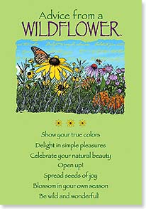 Birthday Card - Birthday Advice From a WILDFLOWER | Your True Nature® | 60272 | Leanin' Tree