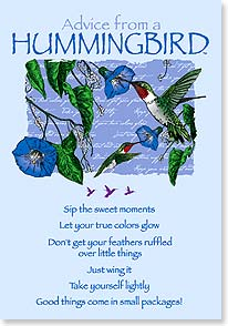 Birthday Card - Birthday Advice From A HUMMINGBIRD | Your True Nature® | 60274 | Leanin' Tree
