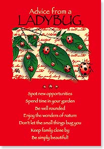Birthday Card - Birthday Advice From A LADYBUG | Your True Nature® | 60277 | Leanin' Tree