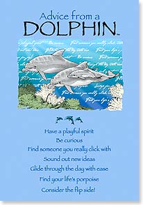 Birthday Card - Birthday Advice from a Dolphin | Your True Nature® | 60278 | Leanin' Tree