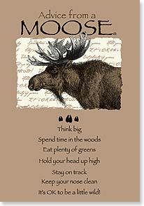 Birthday Card - Advice from a Moose | Your True Nature® | 60279 | Leanin' Tree