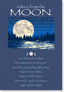 Birthday Card - Advice from the Moon | Your True Nature® | 60282 | Leanin' Tree