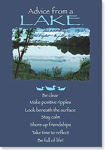 Birthday Card - Advice from a Lake | Your True Nature® | 60284 | Leanin' Tree