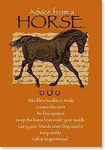 Blank Card - Staff Pick - Advice From A HORSE | Your True Nature® | 60287 | Leanin' Tree