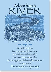 Blank Card with Quote / Saying - Advice From a RIVER | Your True Nature® | 60290 | Leanin' Tree