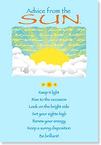 Blank Card with Quote / Saying - Advice From the SUN - 60291 | Leanin' Tree