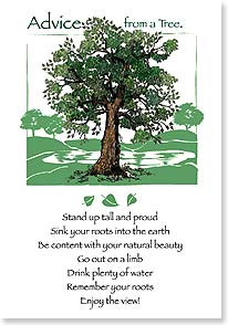 Blank Card with Quote / Saying - Advice From A TREE | Your True Nature® | 60292 | Leanin' Tree