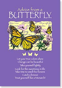 Blank Card with Quote / Saying - Advice From A BUTTERFLY | Your True Nature® | 60296 | Leanin' Tree