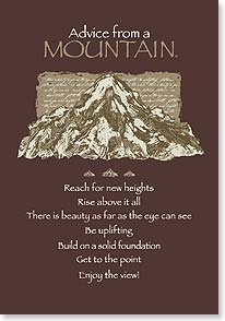 Congratulations Card - Advice From a Mountain | Your True Nature® | 60299 | Leanin' Tree