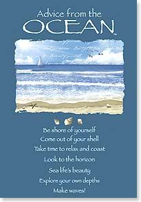 Birthday Card - Advice From the Ocean | Your True Nature&amp;reg; | 60392 | Leanin' Tree