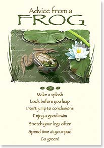 Motivation & Inspiration Card - Advice from a Frog | Your True Nature® | 60393 | Leanin' Tree