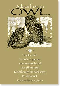 Birthday Card - Advice from an Owl - Hope your day's a hoot! | Your True Nature® | 60396 | Leanin' Tree