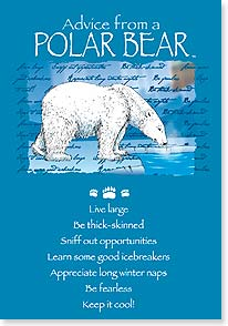 Anytime Wish for You Card - Advice from a Polar Bear - sending the biggest bear hug! | Your True Nature® | 60399 | Leanin' Tree