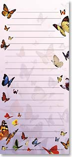 Magnetic List Pad - Butterflies | David Penfound | 61577 | Leanin' Tree