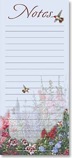Magnetic List Pad - Hummingbirds and Hollyhocks | Wanda Mumm | 61584 | Leanin' Tree