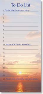 Magnetic List Pad - Praise Him Everyday | Fotosearch | 61600 | Leanin' Tree