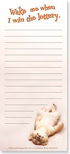 Magnetic List Pad - Wake Me When I Win - 61618 | Leanin' Tree