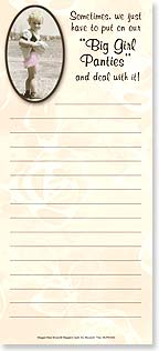 Magnetic List Pad - 'Big Girl Panties' - 61630 | Leanin' Tree