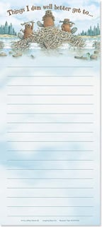 Magnetic List Pad - Things I dam well better get to... - 61668 | Leanin' Tree