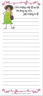Magnetic List Pad - I love crossing crap off my list... | Leslie Moak Murray | 61674 | Leanin' Tree