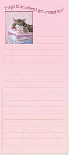 Magnetic List Pad - When I Get Around To It! | Wild-Side Brands Ltd | 61675 | Leanin' Tree
