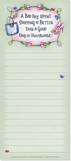 Magnetic List Pad - A bad day shopping... - 61677 | Leanin' Tree