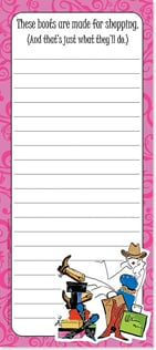 Magnetic List Pad - These boots are made for shopping. - 61678 | Leanin' Tree