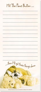 Magnetic List Pad - Hit the Paws Button... | Rachael Hale® | 61691 | Leanin' Tree