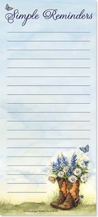 Magnetic List Pad - Simple Reminders | Susan Winget | 61693 | Leanin' Tree
