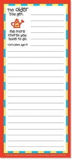 Magnetic List Pad - The older you get, the more chores... | Kate Harper | 61694 | Leanin' Tree