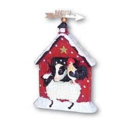 Christmas Ornament - Sale - Christmas Ornaments | Clearance | Barn With Animals - 62045 | Leanin' Tree