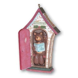 Christmas Ornament - Sale - Christmas Ornament | Clearance | Bear in Outhouse - 62046 | Leanin' Tree