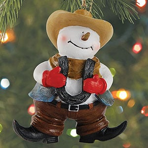 Christmas Ornament - Sale - Western Snowman - 62050 | Leanin' Tree