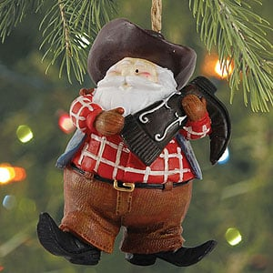 Christmas Ornament - Sale - Western Santa Christams Ornament - 62051 | Leanin' Tree