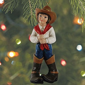 Christmas Ornament - Sale - Cowgirl in Big Boots - 62053 | Leanin' Tree