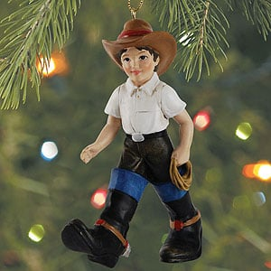 Christmas Ornament - Sale - Cowboy in Big Boots - 62054 | Leanin' Tree