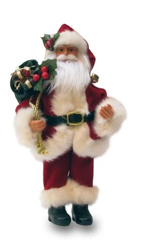 Christmas Tree Ornament - Traditional Santa Figurine - 62055 | Leanin' Tree