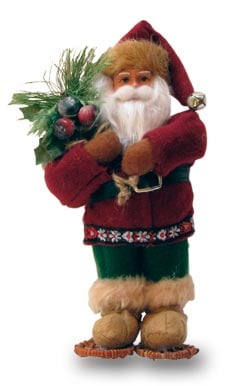 Christmas Tree Ornament - Woodsman Santa Figurine - 62057 | Leanin' Tree
