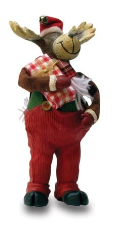Christmas Tree Ornament - Bull Moose Santa Figurine - 62059 | Leanin' Tree