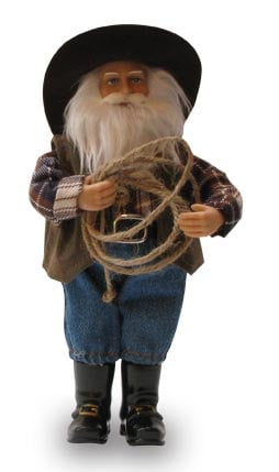 Christmas Tree Ornament - Cowboy Santa Figurine - 62060 | Leanin' Tree