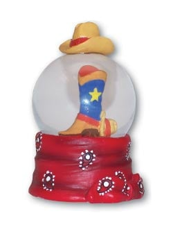 Water Globe - Sale - 3-inch Snow Globe with Boot - 62307 | Leanin' Tree
