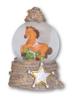 Water Globe - Sale - 3-inch Snow Globe with Horse - 62308 | Leanin' Tree