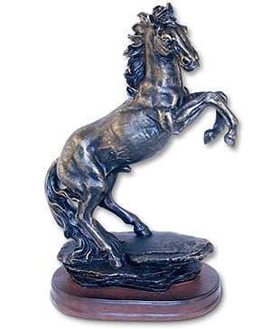 Sculpture - Wildlife Sculpture | Bronzed Horse Statue - 62415 | Leanin' Tree