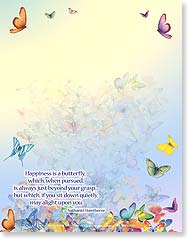 Note Pad - Happiness is a butterfly... | Royce B. McClure | 63056 | Leanin' Tree
