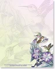 Note Pad - Hummingbirds & Flowers Note Pad | Jody Bergsma | 63058 | Leanin' Tree