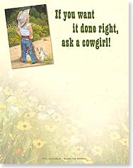 Note Pad - Ask a Cowgirl! | June Dudley | 63092 | Leanin' Tree